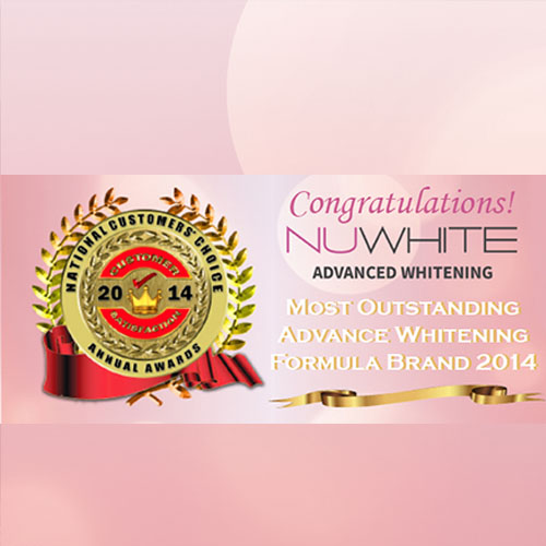 NuWhite: Most Outstanding Advanced Whitening Formula Brand 2014